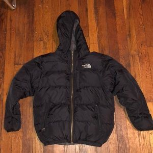 The north face puffer coat black sz medium 550